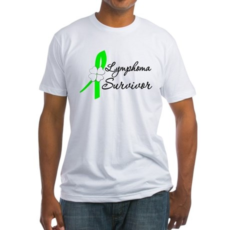 Lymphoma Survivor Fitted T-Shirt