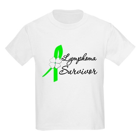 Lymphoma Survivor Kids Light T-Shirt