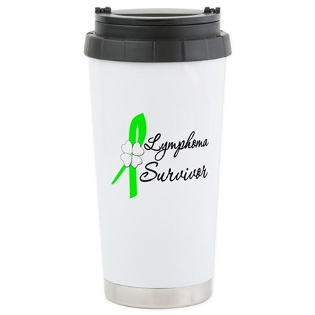 Lymphoma Survivor Ceramic Travel Mug