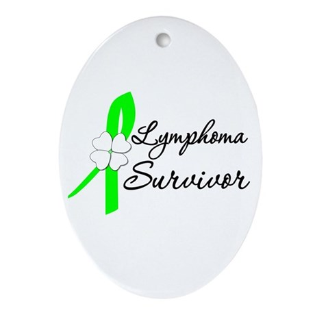 Lymphoma Survivor Oval Ornament