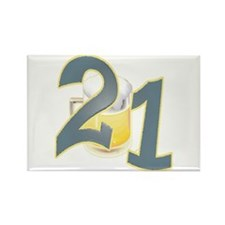 21st B-day Beer Rectangle Magnet (100 pack)
