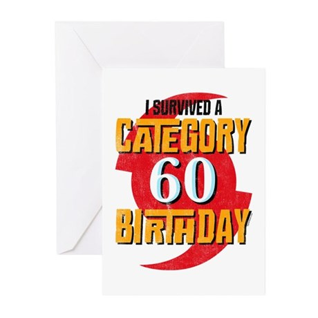 Category 60 Birthday Greeting Cards (Pk of 10)