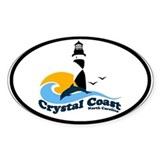 Crystal Coast Oval Decal