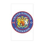 UK Masons Rectangle Sticker