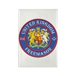 UK Masons Rectangle Magnet