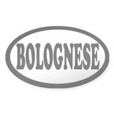 Bolognese White Oval Decal
