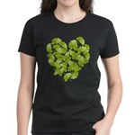 Ginkgo Leaf Heart Women's Dark T-Shirt