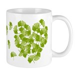 Ginkgo Leaf Heart Mug