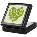 Ginkgo Leaf Heart Keepsake Box