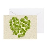 Ginkgo Leaf Heart Greeting Cards (Pk of 10)
