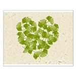 Ginkgo Leaf Heart Small Poster