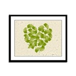Ginkgo Leaf Heart Framed Panel Print
