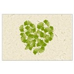 Ginkgo Leaf Heart Large Poster