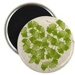 Ginkgo Leaf Heart Magnet