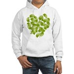 Ginkgo Leaf Heart Hooded Sweatshirt
