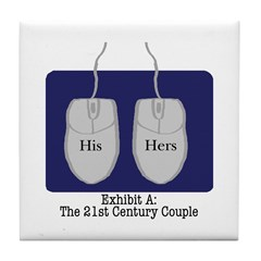 21st Century Couple: Tile Coaster