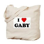 I Love GABY Tote Bag