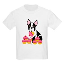 Boston Terrier with Cupcakes T-Shirt