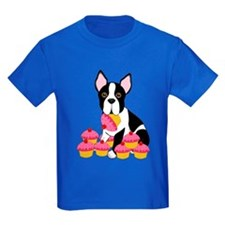 Boston Terrier with Cupcakes T