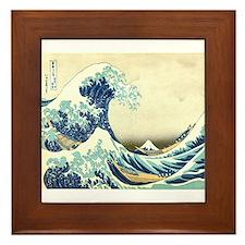 Great Wave off Kanagawa Framed Tile