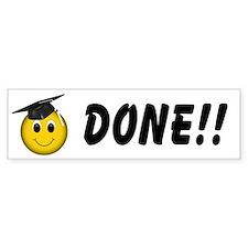 Smiley Graduate Bumper Sticker (50 pk)