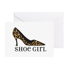 shoe girl Greeting Card