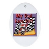 Funny Sprint car Oval Ornament