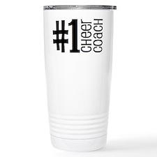 #1 Cheer Coach Ceramic Travel Mug