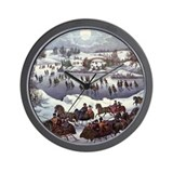 Central Park in Winter Wall Clock