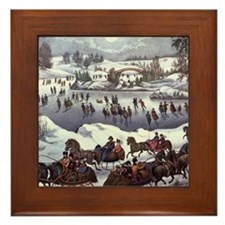 Central Park in Winter Framed Tile