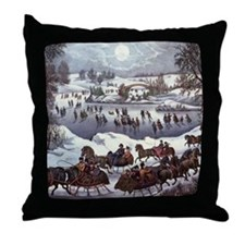 Central Park in Winter Throw Pillow