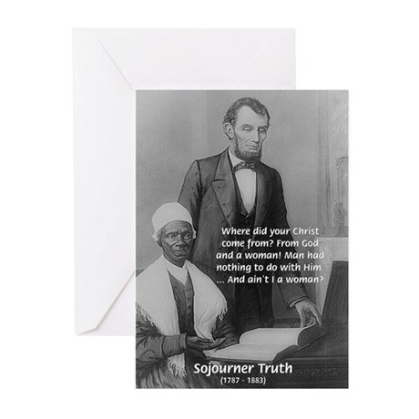 Lincoln with Sojourner Truth Greeting Cards (Packa