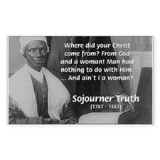 Lincoln with Sojourner Truth Rectangle Decal
