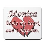 Monica broke my heart and I hate her Mousepad