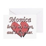 Monica broke my heart and I hate her Greeting Card