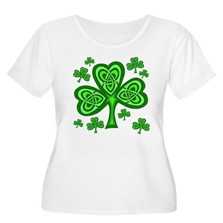 Celtic Shamrocks Women's Plus Size Scoop Neck T-Sh