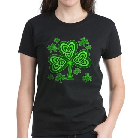 Celtic Shamrocks Women's Dark T-Shirt