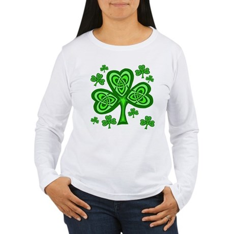 Celtic Shamrocks Women's Long Sleeve T-Shirt