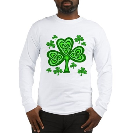 Celtic Shamrocks Long Sleeve T-Shirt