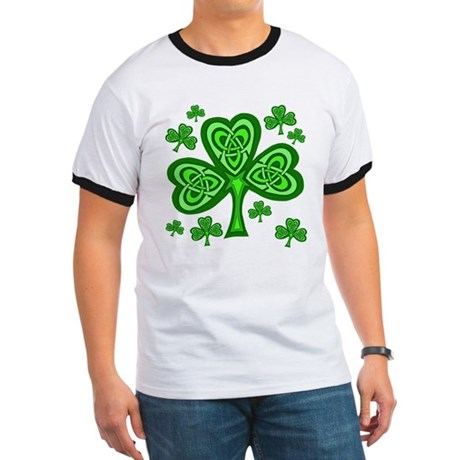 Celtic Shamrocks Ringer T