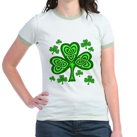 Celtic Shamrocks Jr. Ringer T-Shirt
