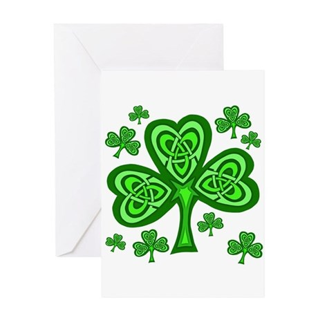 Celtic Shamrocks Greeting Card