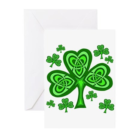 Celtic Shamrocks Greeting Cards (Pk of 10)