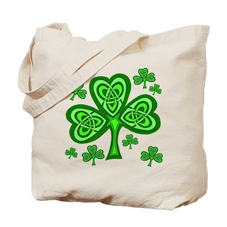 Celtic Shamrocks Tote Bag