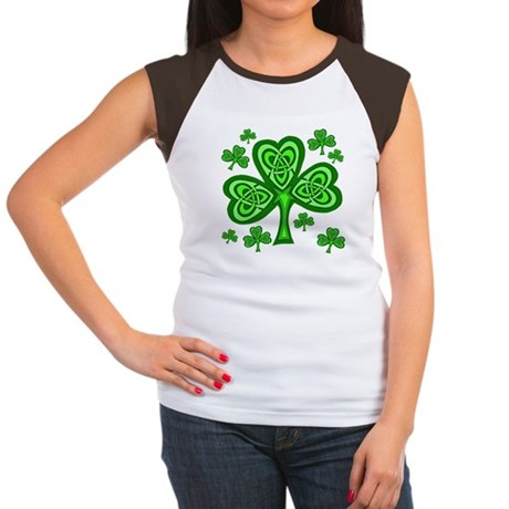 Celtic Shamrocks Women's Cap Sleeve T-Shirt