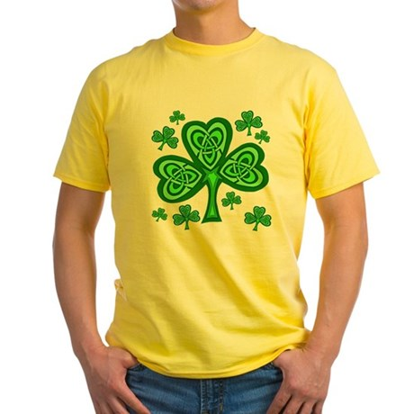 Celtic Shamrocks Yellow T-Shirt