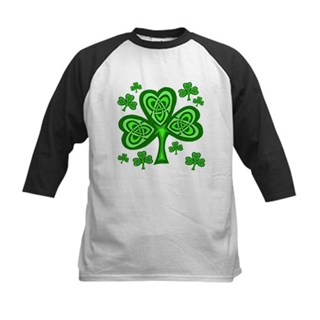 Celtic Shamrocks Kids Baseball Jersey