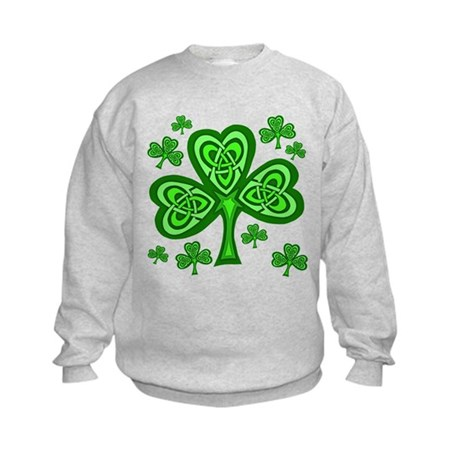Celtic Shamrocks Kids Sweatshirt