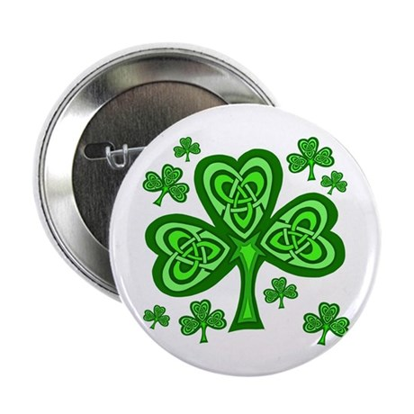 "Celtic Shamrocks 2.25"" Button (100 pack)"