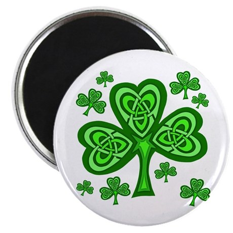 "Celtic Shamrocks 2.25"" Magnet (100 pack)"
